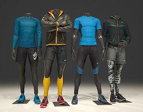 Man mannequin Nike pack 1 3D