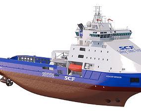 Icebreaker Aleksey Chirikov 3D model