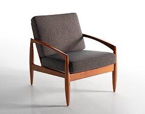 Paper Knife Teak Lounge Chair 3D