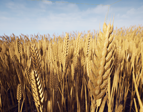 game-ready Wheat photorealistic 3d model