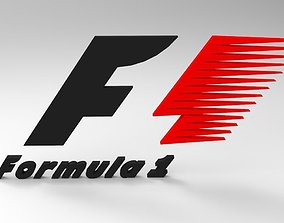 Formula1 Logo 3D asset