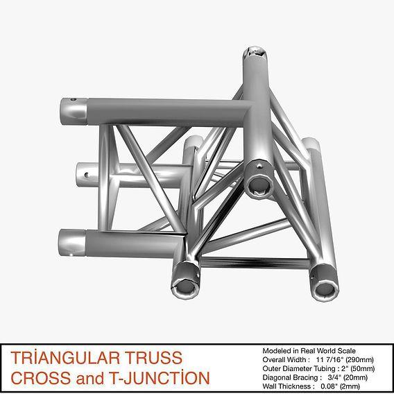 Triangular Truss Cross and T Junction 084