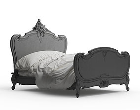 The Louis XV Style Carved Wooden Bed 3d model