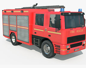 3D model realtime Fire Truck - Rescue Machine