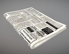 Newspaper 3D asset