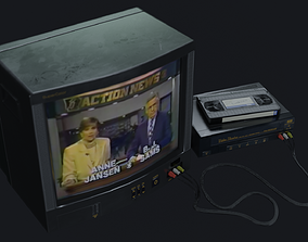 3D model TV Set - PBR Game Ready