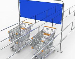 3D model realtime Trolley rack