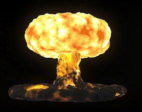 NUCLEAR EXPLOSION fireworks 3D