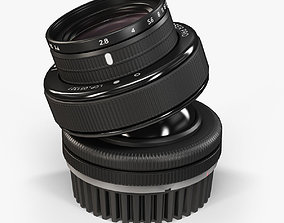 Lensbaby Composer Pro Edge 80 Optic lens 3D asset