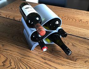 Modern Wine Bottle Holder 3D printable model