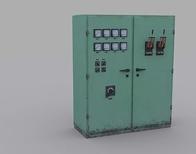 Electrical Panel 3D asset game-ready