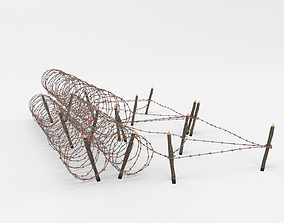 3D model Barb Wire Obstacle blend