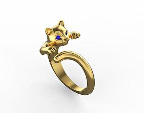 3D printable model N015 Little kitten rings Set