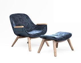 Linteloo Florian lounge armchair 3D model