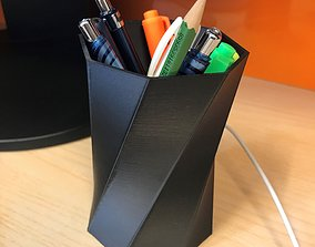 Pen holder 3D print model pen
