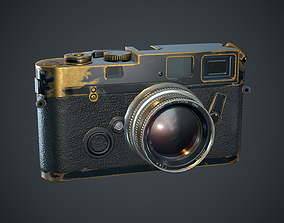 3D model old style photo camera