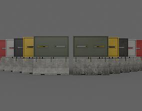 PBR Concrete Roadblock Barrier V1 3D model