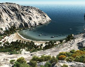 Sandy bay in Vue 3D