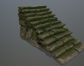 stairway stairs 3D model game-ready
