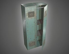 Metal Locker 3D asset
