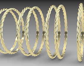 fashion Rope ring model part