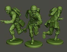 American Medic soldier ww2 run A8 3D print model