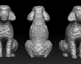 Poodle pendant 3D printable model
