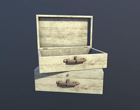 3D asset Wooden Case Animated PBR