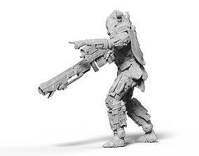 3D print model Scifi Marksman Sniper Rifle miniature