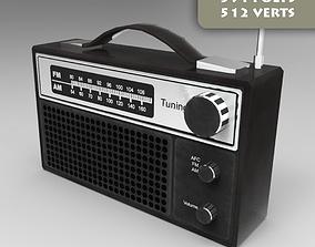 3D asset VR / AR ready FM Radio