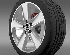 3D model VW Polo 2010 wheel
