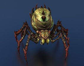 3D rigged rigged Spider