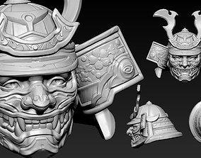 3D print model Head Samurai Number 2