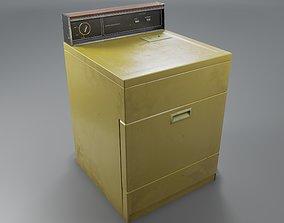 3D asset Vintage Dryer Machine
