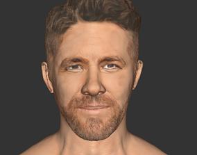 Ryan Reynolds beard head ralistic actor 3D game-ready