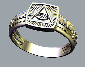 3D print model The Mason Ring with Eye of Providence