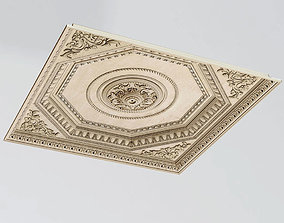 3D Decorative Ceiling Tile Rosette V-ray
