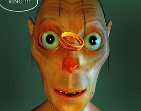 3D model gollum alien