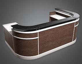 Reception Desk HPL - PBR Game Ready 3D model