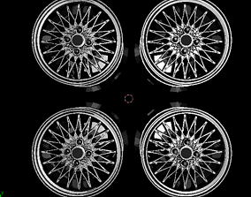 3D printable model 1 to 24 scale car rims