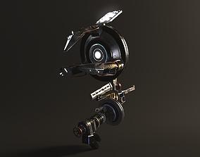 3D model Rigged SCIFI Robot Laser Engraver Mechanical Arm