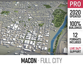 3D asset Macon - city and surroundings