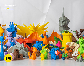 All Pokemon - Low-poly Set 3D printable model