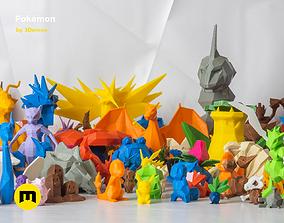 All Pokemon - Low-poly Set 3D print model
