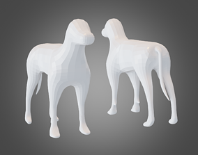 Base Mesh Dog 3D model