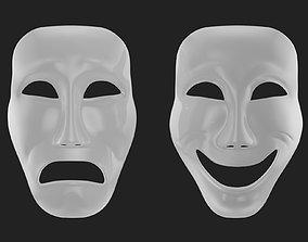3D asset Theater Mask