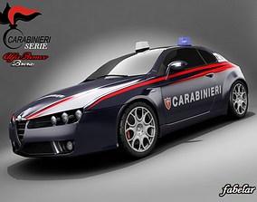 Alfa Brera Carabinieri 3D model rigged