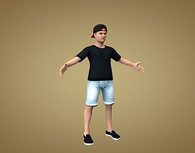 3D model Teenager or dude