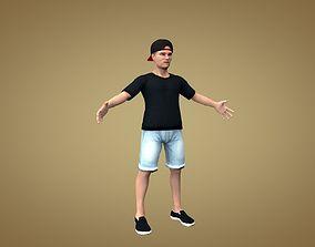 3D model Teenager or dude