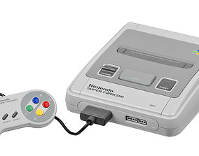 Super Nintendo SNES CAD 3D model